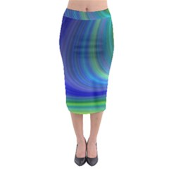 Space Design Abstract Sky Storm Midi Pencil Skirt