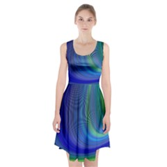 Space Design Abstract Sky Storm Racerback Midi Dress
