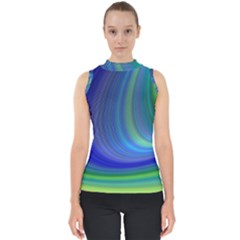 Space Design Abstract Sky Storm Shell Top