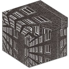 Graphics House Brick Brick Wall Storage Stool 12