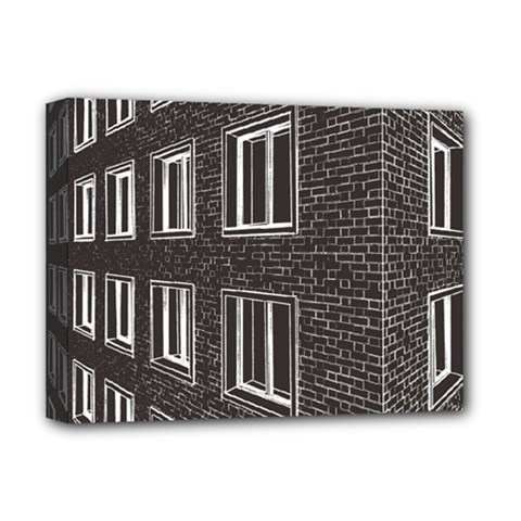 Graphics House Brick Brick Wall Deluxe Canvas 16  X 12