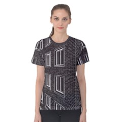 Graphics House Brick Brick Wall Women s Cotton Tee
