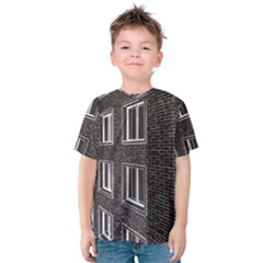 Graphics House Brick Brick Wall Kids  Cotton Tee