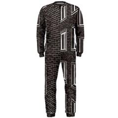 Graphics House Brick Brick Wall Onepiece Jumpsuit (men)
