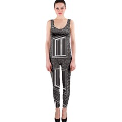 Graphics House Brick Brick Wall Onepiece Catsuit