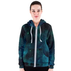Space All Universe Cosmos Galaxy Women s Zipper Hoodie