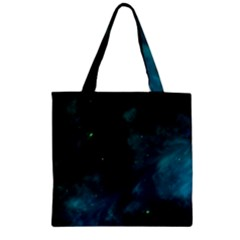Space All Universe Cosmos Galaxy Zipper Grocery Tote Bag
