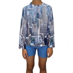 Manhattan New York City Kids  Long Sleeve Swimwear