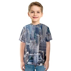 Manhattan New York City Kids  Sport Mesh Tee