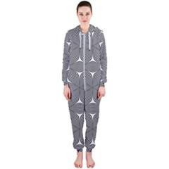 Seamless Weave Ribbon Hexagonal Hooded Jumpsuit (ladies)