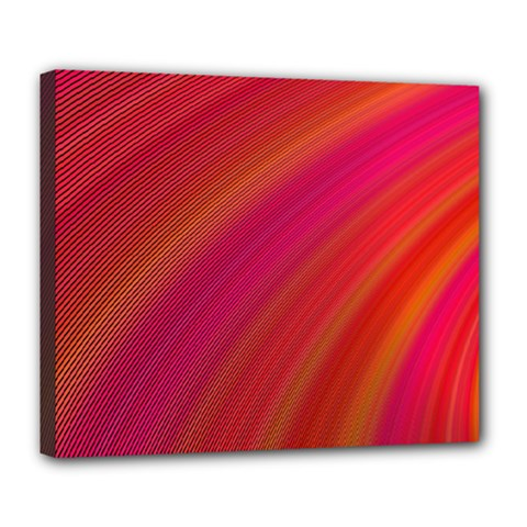 Abstract Red Background Fractal Deluxe Canvas 24  X 20