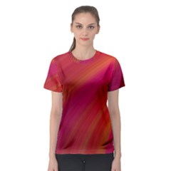 Abstract Red Background Fractal Women s Sport Mesh Tee