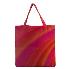 Abstract Red Background Fractal Grocery Tote Bag