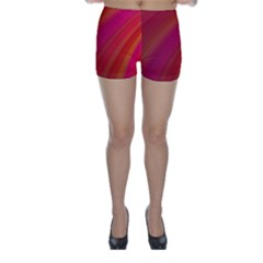 Abstract Red Background Fractal Skinny Shorts