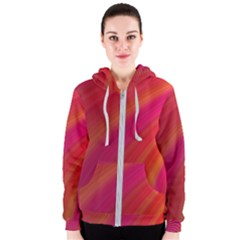 Abstract Red Background Fractal Women s Zipper Hoodie