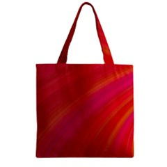 Abstract Red Background Fractal Zipper Grocery Tote Bag