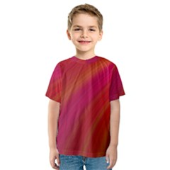Abstract Red Background Fractal Kids  Sport Mesh Tee