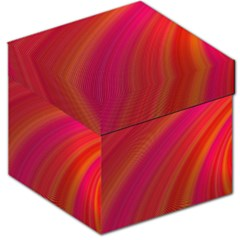 Abstract Red Background Fractal Storage Stool 12