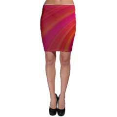Abstract Red Background Fractal Bodycon Skirt
