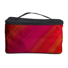Abstract Red Background Fractal Cosmetic Storage Case