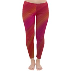 Abstract Red Background Fractal Classic Winter Leggings