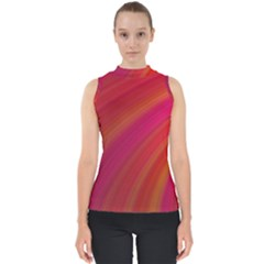 Abstract Red Background Fractal Shell Top