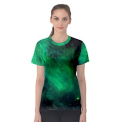 Green Space All Universe Cosmos Galaxy Women s Sport Mesh Tee
