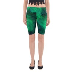 Green Space All Universe Cosmos Galaxy Yoga Cropped Leggings