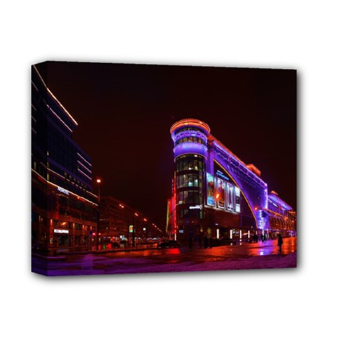 Moscow Night Lights Evening City Deluxe Canvas 14  X 11