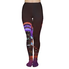 Moscow Night Lights Evening City Women s Tights