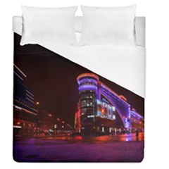 Moscow Night Lights Evening City Duvet Cover (queen Size)