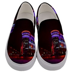 Moscow Night Lights Evening City Men s Canvas Slip Ons