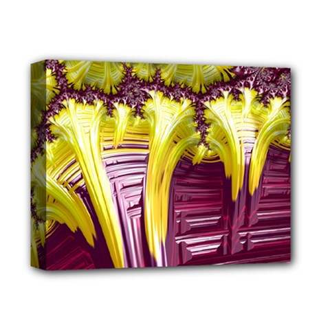 Yellow Magenta Abstract Fractal Deluxe Canvas 14  X 11