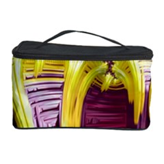 Yellow Magenta Abstract Fractal Cosmetic Storage Case