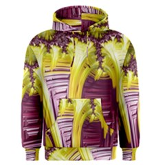 Yellow Magenta Abstract Fractal Men s Pullover Hoodie