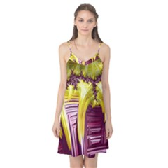 Yellow Magenta Abstract Fractal Camis Nightgown