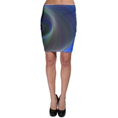 Gloom Background Abstract Dim Bodycon Skirt