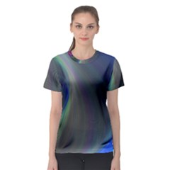 Gloom Background Abstract Dim Women s Sport Mesh Tee