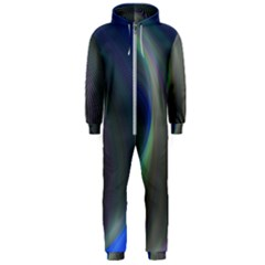 Gloom Background Abstract Dim Hooded Jumpsuit (men)