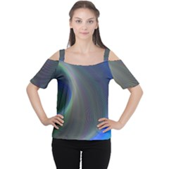 Gloom Background Abstract Dim Cutout Shoulder Tee