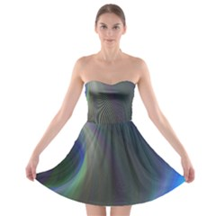 Gloom Background Abstract Dim Strapless Bra Top Dress