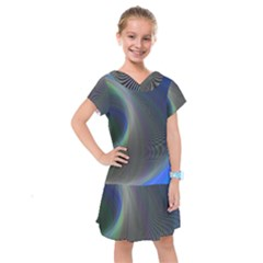 Gloom Background Abstract Dim Kids  Drop Waist Dress