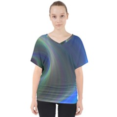 Gloom Background Abstract Dim V Neck Dolman Drape Top
