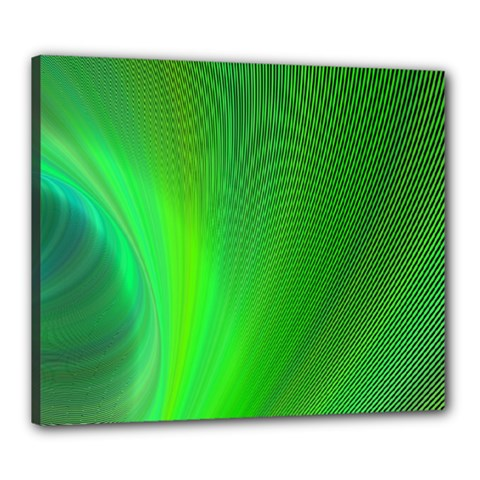 Green Background Abstract Color Canvas 24  X 20