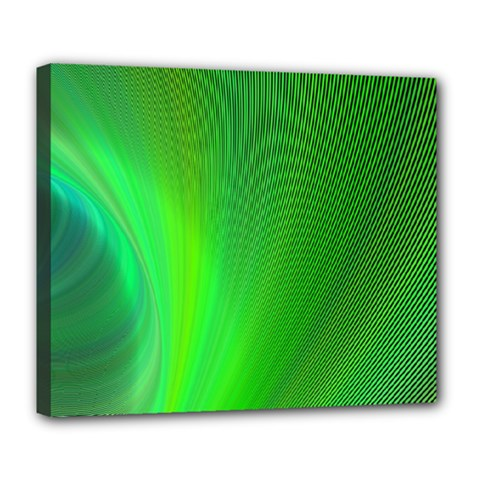 Green Background Abstract Color Deluxe Canvas 24  X 20