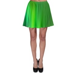 Green Background Abstract Color Skater Skirt