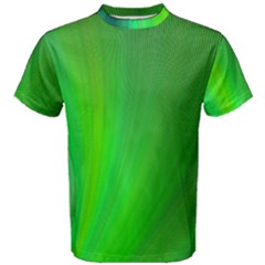 Green Background Abstract Color Men s Cotton Tee