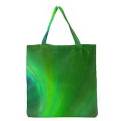 Green Background Abstract Color Grocery Tote Bag