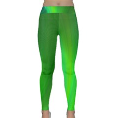 Green Background Abstract Color Classic Yoga Leggings