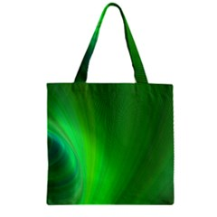 Green Background Abstract Color Zipper Grocery Tote Bag